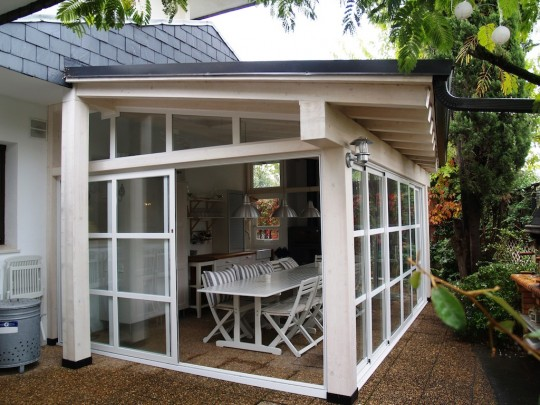 Cerramientos de porches porches y p rgolas de madera imi - Porches de madera y cristal ...